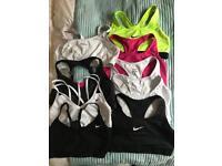9 sports bras. Medium.