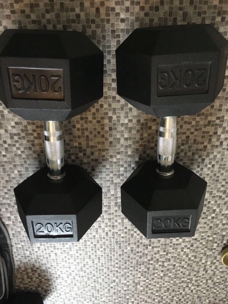Hex dumbells 20kg pair