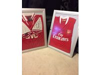 Signed Ian Wright theirry Henry arsenal shirt