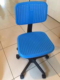 Blue ikea computer desk chair