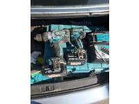 Makita drill and impact and charger