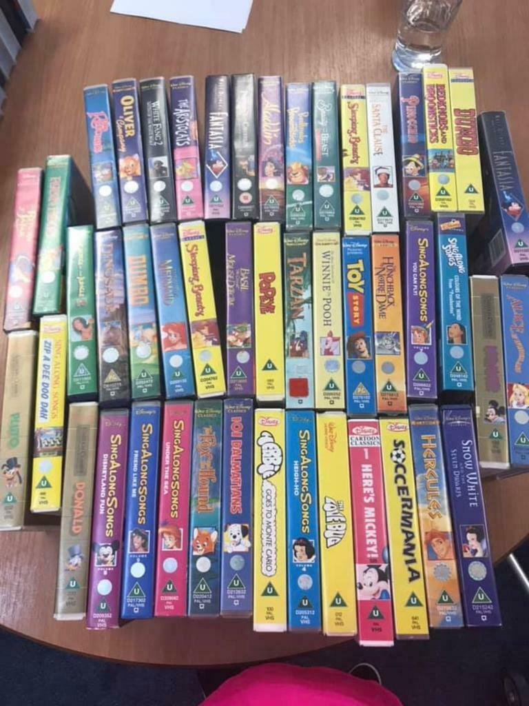 Over 100 Vintage Disney Vhs Tapes Job Lot Can Be Resold