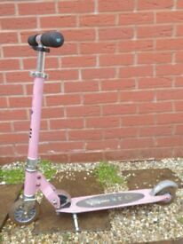 micro scooter 2 wheels, pink