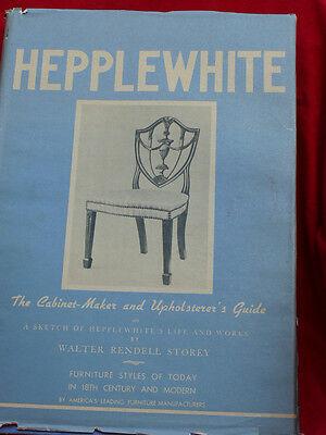 1942 Ed. HEPPLEWHITE Furniture Cabinet Maker Upholster Design Guide LARGE FOLIO  for sale  Shipping to Nigeria