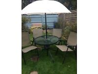 Garden table and chairs for sale