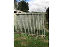 Security gates and fence £100