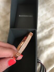 Swarovski Distinct Rose Gold Crystal Bangle