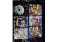 6 PS4 Games For Sale - Fifa 15, Fifa 16, PES 2016 and Tearaway Unfolded