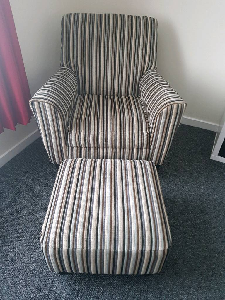 Armchair and footstoolin Bournemouth, DorsetGumtree - Lovely armchair and footstool. Great condition, only selling due to getting a new sofa from family. collection only kinson