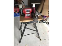 Robert Sorby Deluxe Universal Sharpening System for woodturning tools, bench grinder and work bench