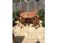 Alexander Rose Hardwood Table and 4 chairs