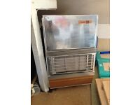 Calor gas fire with Calor gas bottle, some gas still left in. Good condition.