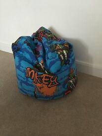 Ninja turtle bean bag