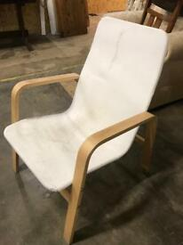 Ikea Chair with Footstool