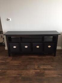 Ikea hemnes sideboard brown/black with storage boxes £75