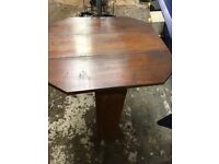 SMALL DROP LEAF WOODEN TABLE
