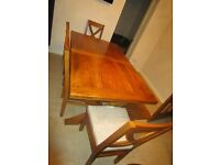 mango wood Table chairs & bench