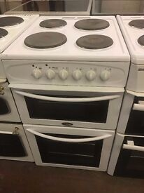 50CM WHITE BELLING ELECTRIC COOKER TWIN CAVITY