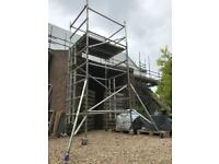 Lewis Youngman Boss aluminium scaffold tower double width 5.2m working height