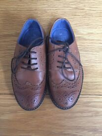 Boys Tan brogues from Next size 11