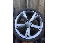 "Audi A5 S5 19"" genuine Y spoke alloys tyres"