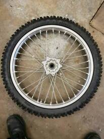 Front wheel Honda CRF X 250 450 and tyre