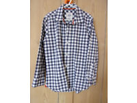 Boys Mini Boden long sleeved checked shirt