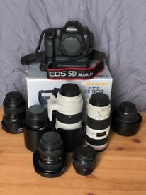 Canon 5D Mark 3, lenses and flashes for sale
