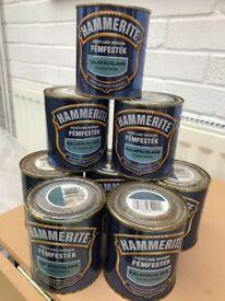 Hammerite paint metallic light blue 500ml