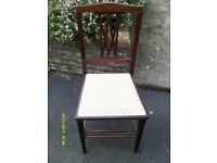 Edwardian mahogany bedroom/occasional chair
