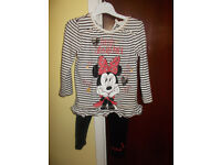 MINNIE MOUSE TOP AND LEGGINGS SET 1 1/2 - 2 YEARS