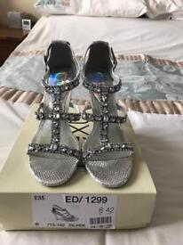 Diamanté Shoes size 8