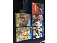 5 PlayStation 4 games & 1 Controller
