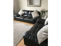 DFS DAZZLE 3 Piece Mahogany Leather Suite