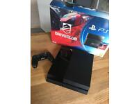 PS4 with one controller and 14 games