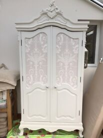 Beautiful shabby chic, french style wardrobe