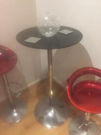 Bar table and gas lift bar stools
