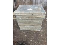 **FREE TO COLLECTOR** 11 x Sold concrete paving slabs