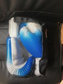 TWINS SPECIAL High Quality Boxing/ Mix Martial Arts Gloves / Two-Shade Blue & White