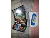 Blue Slim & Lite PSP + 4 games