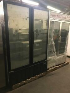 2 double door glass freezers for only $1695 each ! Retails over $6000+ each! Save thousands ( like new !) Shipping avail