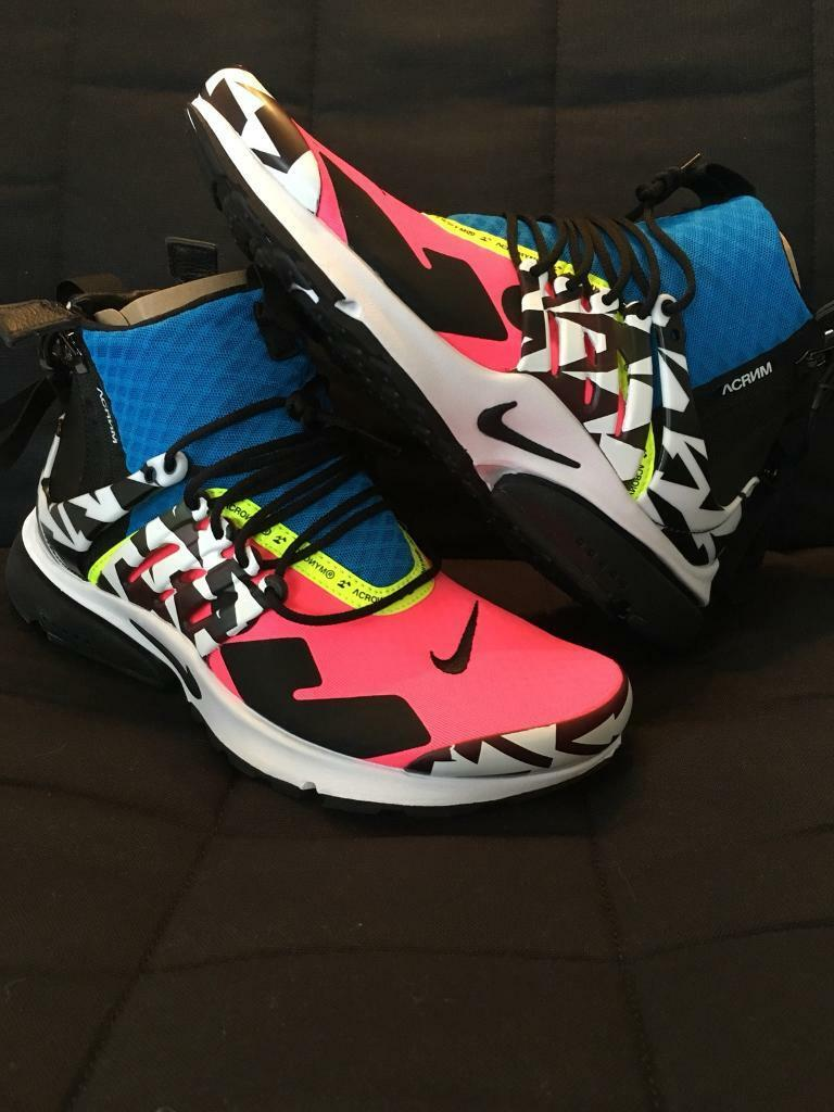 2efa2ddea4e NIKE X ACRONYM AIR PRESTO MID Racer Pink Black Photo Blue - UK 8