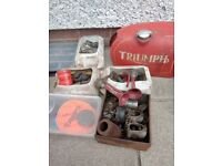 Motorcycle parts from the 1950's to early 1970's. Triumph, BSA etc.