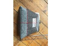 Harris tweed large purse style clutch