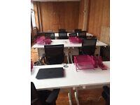 Desks x4 to rent in warehouse in Shoreditch Triangle - £250 per desk/per month. 24 hr access