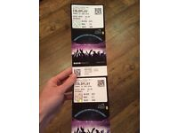 2 X seating tickets for Coldplay at Wembley. Block 525 row 13 seating