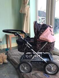 Dolls pram - Silver Cross