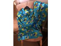 Silk owl designer pjs for teenage girl size xsmall