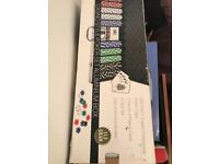 Brand new poker set in case amd box