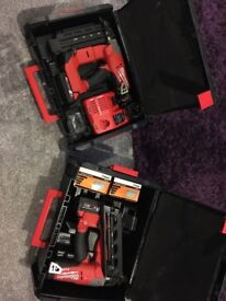 Milwaukee 16g and 18g Gasless nailers 18v